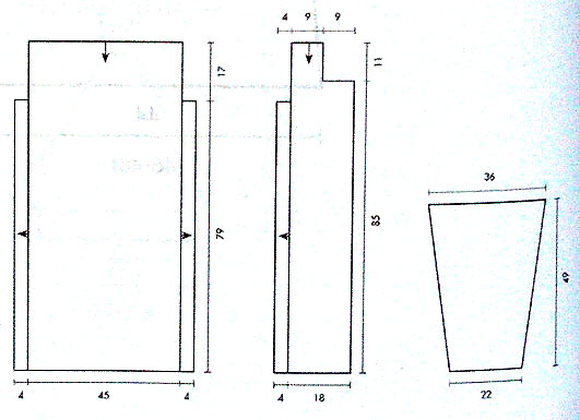 схема кофты спицами со